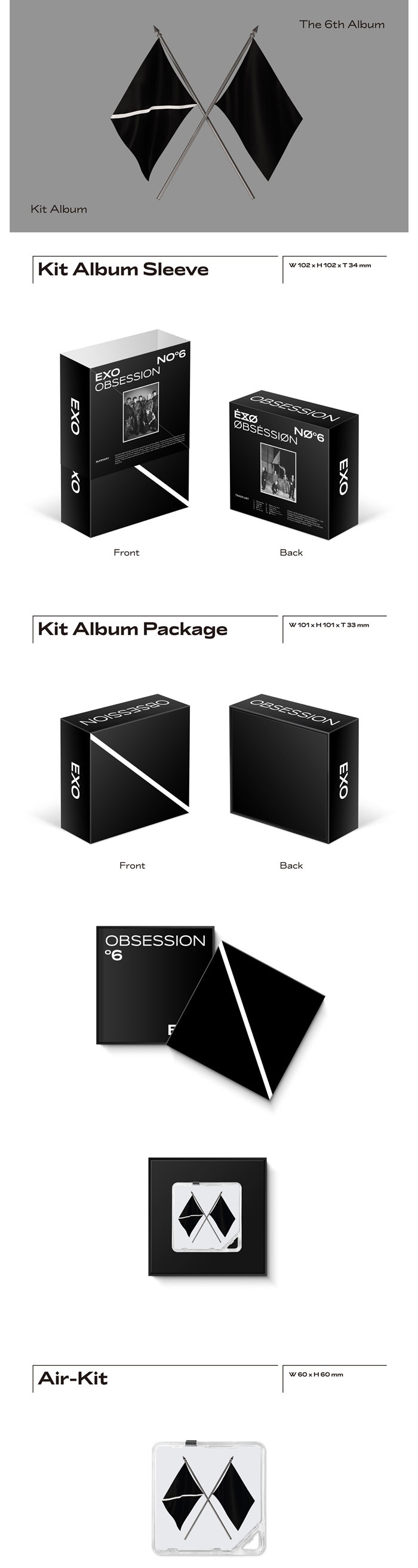 Kpopmonster Exo 6th Album Obsession Kit Album